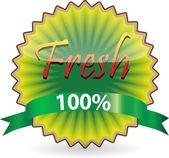 Kiwi shape Fresh label — Stock Vector
