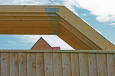 Roof trusses. — Stock Photo