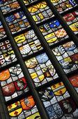 Amsterdam oude kerk fenster vitrage — Stockfoto