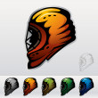 Ice Hockey Masks - Stock Vector
