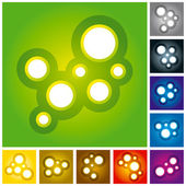 Abstract Circle Molecules Set — Stock Vector