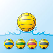 H2O Polo ball Set — Stock Vector