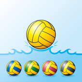 Water Polo ball Set — Stock Vector