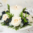 Holiday table decoration - Stock Photo