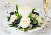 Holiday table decoration — Stockfoto