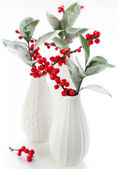 Christmas flower arrangement — Stock Photo