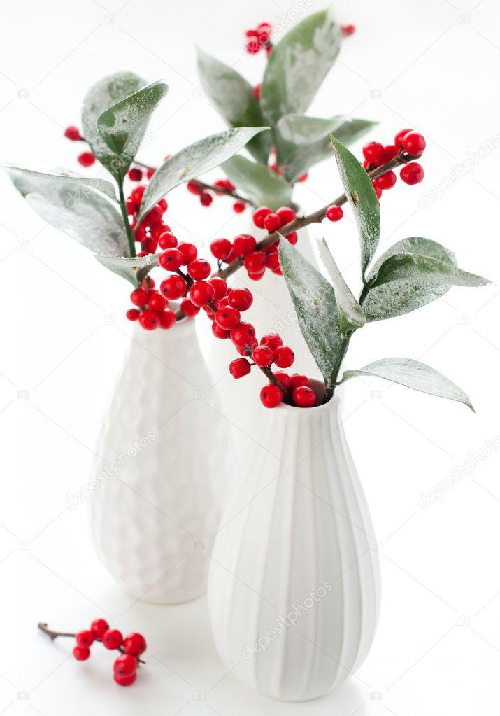 Christmas Flower Vases