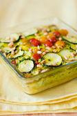 Vegetable gratin(quiche) — Stock Photo