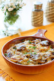 Potato and mushroom gratin — Stock Photo
