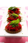 Beet appetizers — Stock Photo