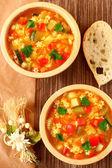 Sebzeli çorba çorba — Stok fotoğraf
