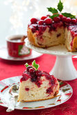 Cranberry Upside Down Cake — Stock Photo
