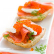 Royalty-Free Stock Photo: Salmon appetizer with red caviar