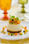 Roquefort cheesecake with vegetables — Stock Photo
