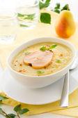 Sopa creme de salsinha — Fotografia Stock