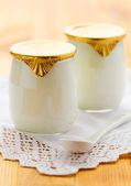Milk yoghurt — Stock Photo