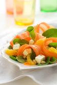 Salade de carottes aux épinards — Photo
