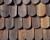 Wooden shingles — Foto Stock