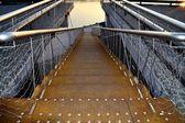 Metallic rusty stairway — Stock Photo