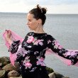Foto Stock: Flamenco woman
