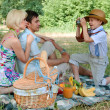 Family picnick on the outdoors — Stock Photo