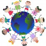 Mixed ethnic children — Stock Vector