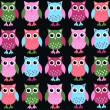 Royalty-Free Stock Vector Image: Seamless owl pattern