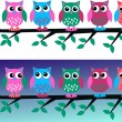 Two different owl headers — Stock Vector