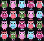 Seamless owl pattern — Stock Vector