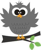 A grey owl — Stock Vector