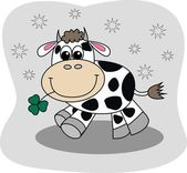 Een gelukkig koe — Stockvector