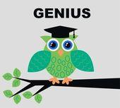 Genius owl — Stock Vector