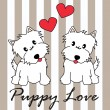 Puppy love — Stok Vektör #7795307