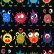 Stock Vector: Seamless monster pattern