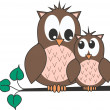 Two cute owls — Stock Vector #7808702
