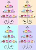 Cupcakes — Vector de stock