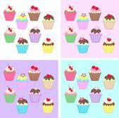 Cupcakes — Stockvektor