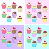 Cupcakes — Stockvector