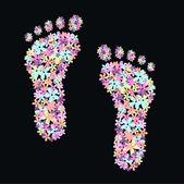 Flower feet — Stock Vector