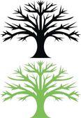 Oak trees — Stock Vector