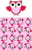 Pink owls seamless — Vecteur