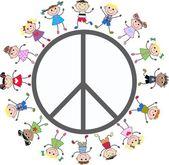 Peace love freedom — Stock Vector