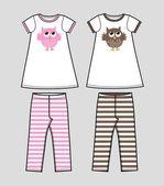 Modello per abbigliamento per bambini — Vettoriale Stock