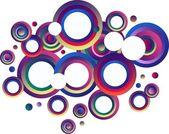 Fond des cercles coloré moderne — Vecteur