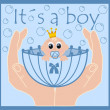 Baby announcement — Stock Vector #7910964