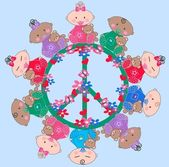 Mixed ethnic babies — Stock Vector