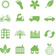 Green ecology icons — Stock Vector #7921973