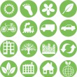 Green ecology icons — Stock Vector #7921978