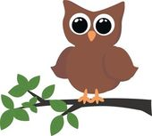 A brown owl — Stock Vector