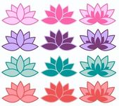 Lotus flower background — Stock Vector